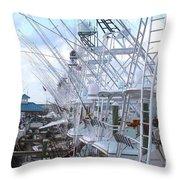 White Marlin Open Docks Throw Pillow