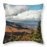 White Mountain Foliage Throw Pillow
