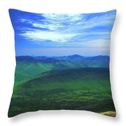 White Mountain Leafout From Franconia Ridge Throw Pillow
