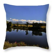 White Mountain Panorama Throw Pillow