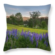 White Mountain Sunset Throw Pillow