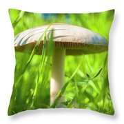 White Mushroom #2 Throw Pillow