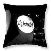 White Night Melbourne Throw Pillow