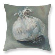 White Onion No. 1 Throw Pillow