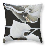 White Orchid Middle Section Throw Pillow
