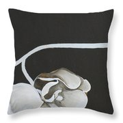 White Orchid Third Section Throw Pillow