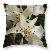 White Orchids 2 Throw Pillow