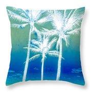 White Palms Throw Pillow