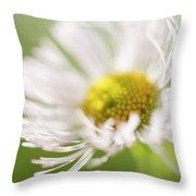 White Petal Flower Abstract Throw Pillow