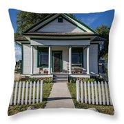 White Picket Fence Throw Pillow