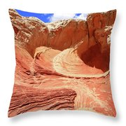 White Pocket # 42 Throw Pillow