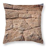 White Pocket - Nature's Pavement Throw Pillow