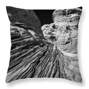 White Pockets 2361 Throw Pillow