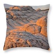 White Pockets Brain Rock Sunrise Throw Pillow