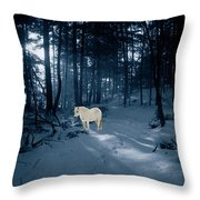 Spirit Pony In A Blue Wood Throw Pillow