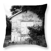 White Post Throw Pillow