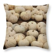 White Pumpkins Throw Pillow