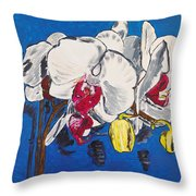 White Purple Phalaenopsis Orchids Throw Pillow