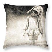 White Rabbit Throw Pillow by Bob Orsillo