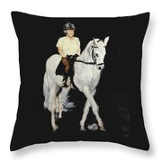 White Ride Throw Pillow