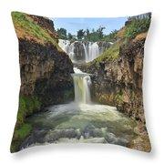 White River Falls B Throw Pillow