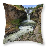 White River Falls C Throw Pillow