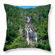White River Falls Throw Pillow