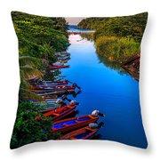 White River Jamaica Throw Pillow