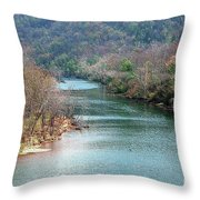 White River Throw Pillow