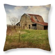 White River Trace Barn 2 Throw Pillow