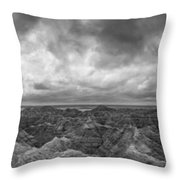White River Valley Overlook Panorama 2 Bw Throw Pillow