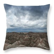 White River Valley Overlook Panorama 2  Throw Pillow