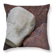 White Rock On Red Rock Number 1 Throw Pillow