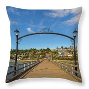 White Rock Pier In Bc Canada Throw Pillow