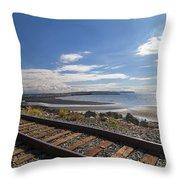 White Rock Promenade In British Columbia Throw Pillow