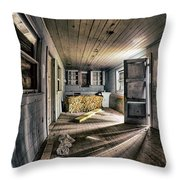White Room, Yellow Couch, Real Estate Series Throw Pillow