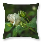 White Rose II Throw Pillow