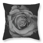 White Rose In Black And White Throw Pillow