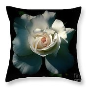 White Rose In The Shadows Throw Pillow by Patricia Strand