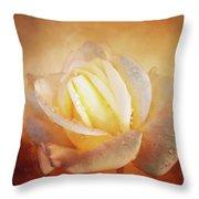 White Rose On Deep Texture Throw Pillow