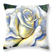 White Rose Two Throw Pillow