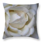 White Rose2 Throw Pillow