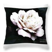 White Rose,stylization Throw Pillow