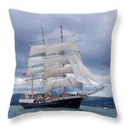 White Sails Throw Pillow