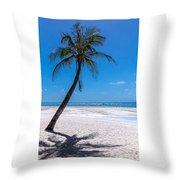 White Sand Beaches And Tropical Blue Skies Throw Pillow