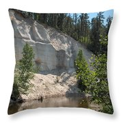 White Sands Cliff Throw Pillow