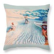 White Sands Family Throw Pillow