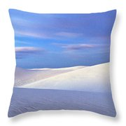 White Sands National Monument, Sunset Throw Pillow