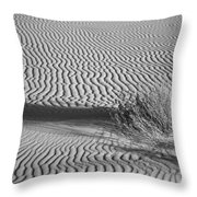 White Sands Ripples Throw Pillow