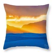 White Sands Sunset 2 Throw Pillow
